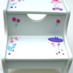 Painted Step Stool  Ballet