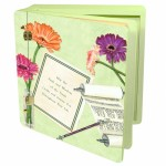 Lg Wood  -Gerber Mitzvah memory album box