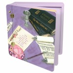 Lg Wood  -Her Bat Mitzvah memory album box
