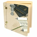 Lg Wood   -Mitzvah memory album box