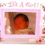 Acrylic Picture Frame  it's a girl