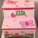Step Stool with storage  butterfly