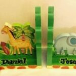 Sunny Safari Bookend sample with name