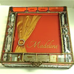 Glass Invitation Box  red box