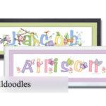 walldoodle Name Frame