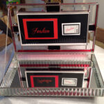 Glass Invitation Box  open