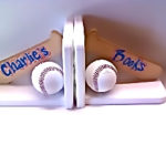 Bookends  Baseball Bat & Balls