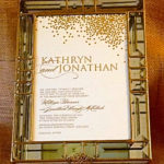Glass Box Invitation  Kathryn & Jonathan