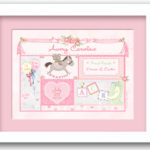 Baby Wall Decor  Little Birth art- pink