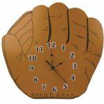 Baseball-glove-clock