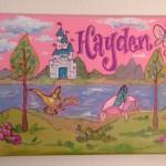Fantasy Castle Hand Painted Canvas