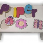 Puzzle Bench with ladybug,flower, butterfly