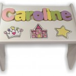 White Puzzle Bench with Princess