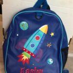 Rocket Embroidered Backpack