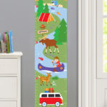 CAMPING TRIP PERSONALIZED KIDS CANVAS GROWTH CHART