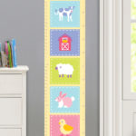 COUNTRY BABY PERSONALIZED KIDS CANVAS GROWTH CHART