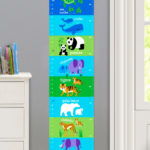 ENDANGERED ANIMALS PERSONALIZED KIDS CANVAS GROWTH CHART