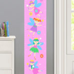 FAIRY PRINCESS PERSONALIZED KIDS CANVAS GROWTH CHART