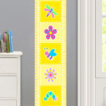 FLOWERLAND PERSONALIZED KIDS CANVAS GROWTH CHART