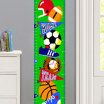 GAME ON PERSONALIZED KIDS CANVAS GROWTH CHART