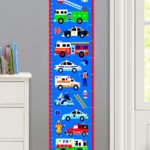 HEROES PERSONALIZED KIDS CANVAS GROWTH CHART