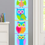 OWLS PERSONALIZED KIDS CANVAS GROWTH CHART