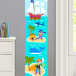 PIRATES PERSONALIZED KIDS CANVAS GROWTH CHARTjpg