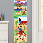 RIDE 'EM PERSONALIZED KIDS CANVAS GROWTH CHART