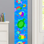 SOMETHIN' FISHY PERSONALIZED KIDS CANVAS GROWTH CHART