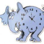 Dr. Seuss Horton Hears A Who Horton Elephant Wall Clock