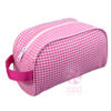 Pink-Gingham Travelers Bag
