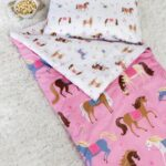 Kids Horses Sleeping Bag with pillow case