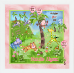 Rain Forest Girl Nursery Squares