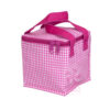 Hot Pink Gingham Snack Square