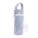 Navy Seersucker Bottle Bag