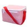 Red Seersucker Lunch Box
