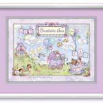 Birth Art 16x20 Lilac