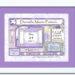 Birth Art Frame 8x10_Bat Mitzvah_ plum