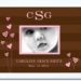 Chocolate Stripe_Pink Hearts Name Border Frame