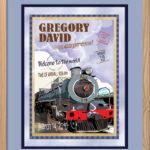 Classic Print 16x20 Train