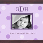 Lilac Big Dots Monogrammed Photo Frame