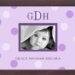 Lilac Big Dots Monogrammed Photo Frame