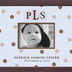 Lt Blue Cocoa Dots Monogrammed Photo Frame