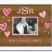 Photo Frame Bat Mitzvah . Chocolate Stripe_Pink Hearts