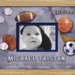 Sports Monogrammed Photo Frame