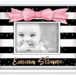 Frame-g-stripes-black-white pink-bow