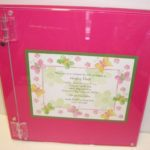 Lucite Photo Album  with invitation