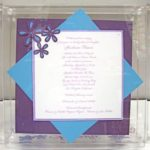 Lucite Invitation Box  painted
