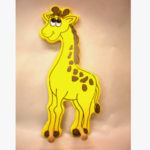Clothes Hanger  giraffe & lion combo