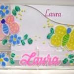 Acrylic Stationery Caddy  butterfly